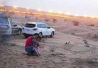 presencia espectral emiratos arabes 320x220 - Familia fotografía una presencia espectral en un desierto de los Emiratos Árabes