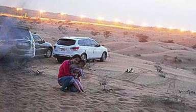 presencia espectral emiratos arabes 384x220 - Familia fotografía una presencia espectral en un desierto de los Emiratos Árabes