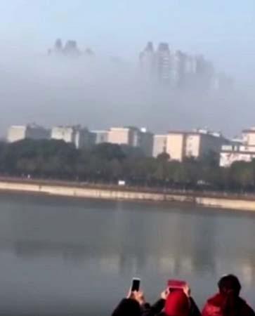 ciudad flotante sobre china - Aparece otra ciudad flotante sobre China, ¿una visión de otra dimensión?