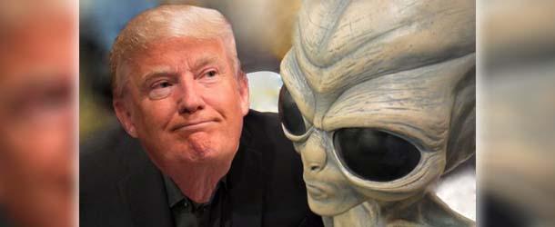 Donald Trump promete revelar la existencia de vida extraterrestre en su primer discurso como presidente