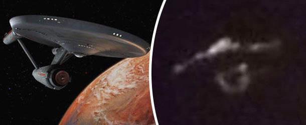 ovni star trek isla canadiense - Escéptico fotografía un OVNI en forma de nave de Star Trek sobre una isla canadiense