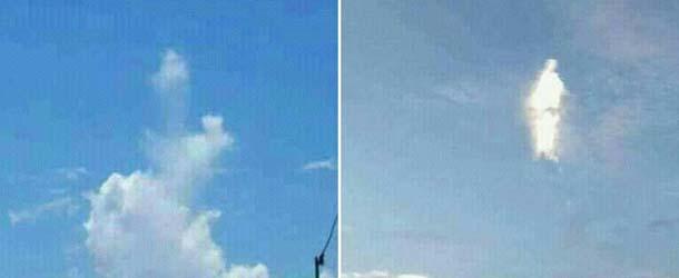 figura divina tonga - Figura divina aparece en las nubes sobre Tonga, ¿milagro o encuentro extraterrestre?