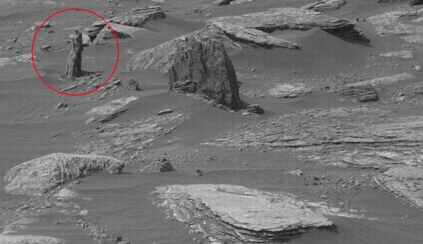 arbol petrificado marte 850x491 - Imagen de la NASA muestra los restos de un árbol petrificado en Marte