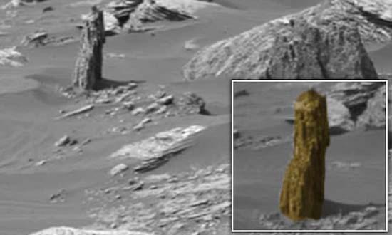 nasa arbol petrificado marte - Imagen de la NASA muestra los restos de un árbol petrificado en Marte