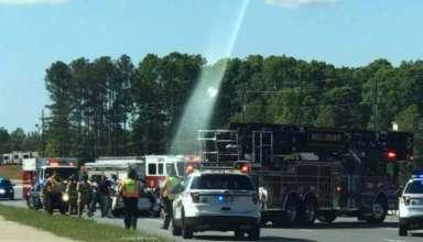 misterioso haz de luz 384x220 - Aparece un misterioso haz de luz desde el cielo sobre un accidente de coche mortal