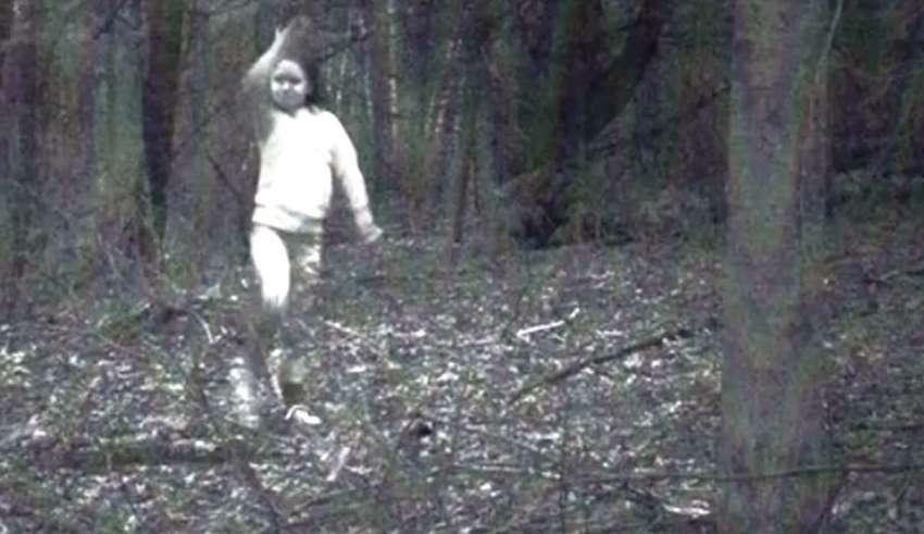 nina fantasma nueva york 850x491 - Una cámara fija fotografía una niña fantasma en un bosque de Nueva York