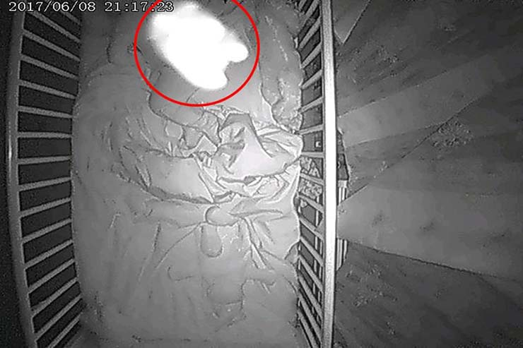 bebe fantasma hijo - Madre horrorizada la descubrir un bebé fantasma en la cuna junto a su hijo de 18 meses