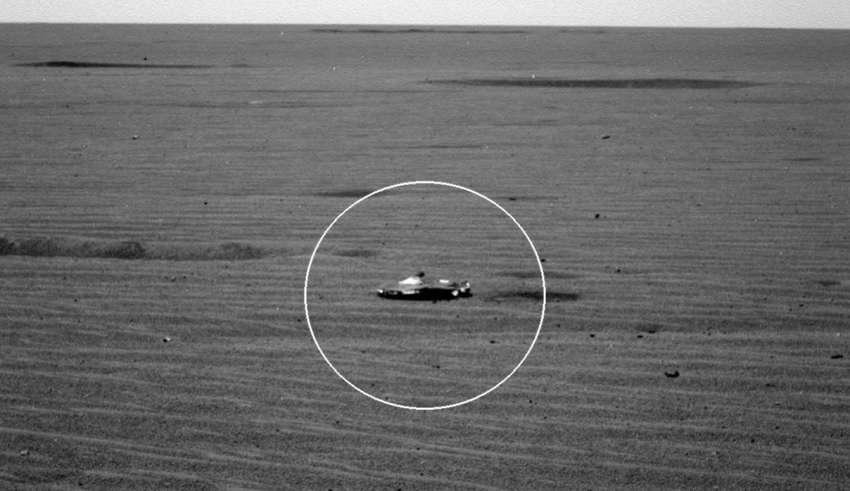 nave extraterrestre marte 850x491 - Rover de la NASA descubre una nave extraterrestre en Marte