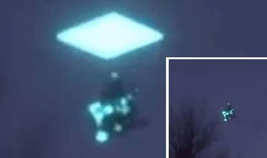 ovni entrando portal dimensional - Extraño vídeograbado en México muestra un OVNI entrando en un portal dimensional