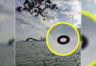 ovni rosquilla china 320x220 - Turista fotografía un OVNI en forma de rosquilla flotando sobre un lago de China