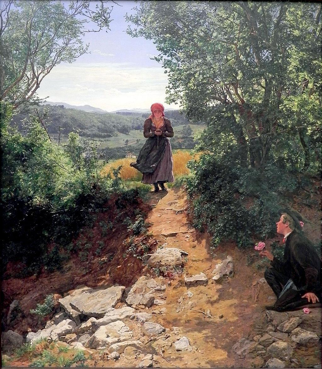 pintura viajes en el tiempo - Una pintura de 1860 muestra a una mujer con un smartphone en sus manos, ¿nueva evidencia de viajes en el tiempo?