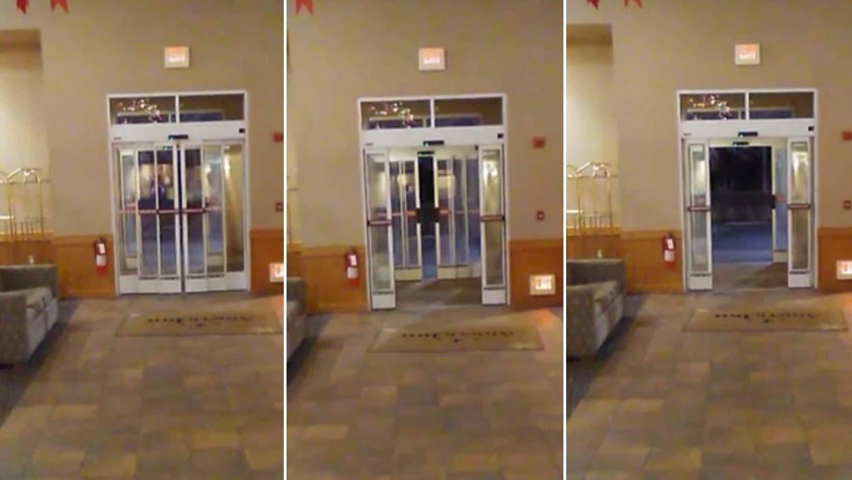 escalofriante v deo muestra el momento en que las puertas