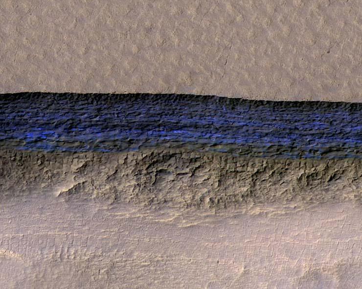 agua helada planeta rojo - Hay vida extraterrestre en Marte: La NASA confirma que hay depósitos subterráneos de agua helada en el planeta rojo
