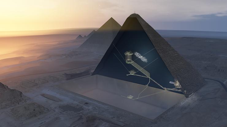 gran piramide de keops trono extraterrestre - Astrofísicos creen que en la misteriosa cámara vacía de la Gran Pirámide de Keops podría haber un trono extraterrestre