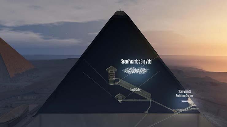 gran piramide keops trono extraterrestre - Astrofísicos creen que en la misteriosa cámara vacía de la Gran Pirámide de Keops podría haber un trono extraterrestre