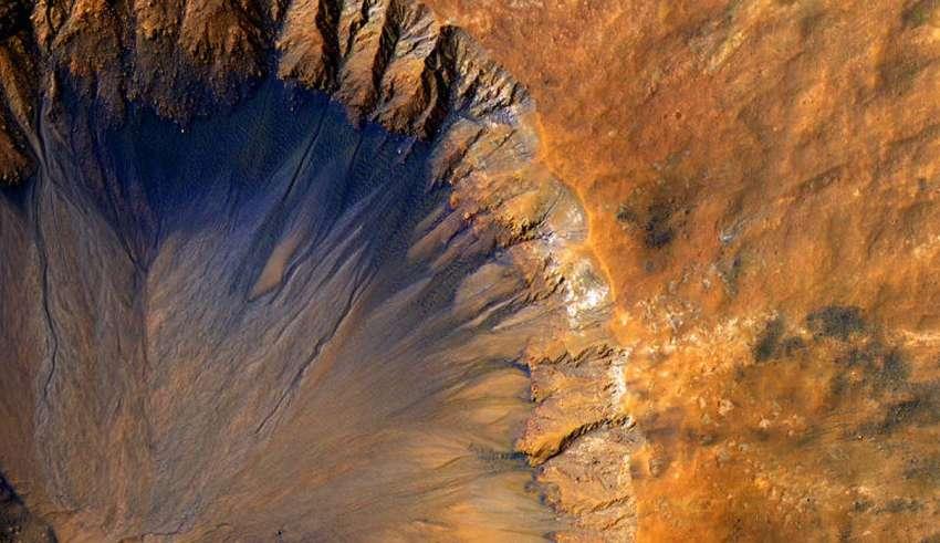 marte agua helada 850x491 - Hay vida extraterrestre en Marte: La NASA confirma que hay depósitos subterráneos de agua helada en el planeta rojo