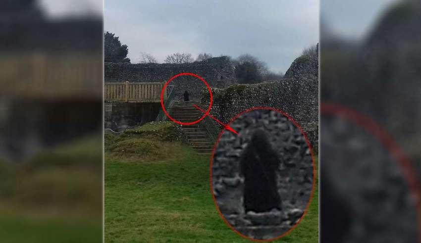 monje fantasmagorico castillo inglaterra 850x491 - Fotografían un monje fantasmagórico en un castillo de Inglaterra