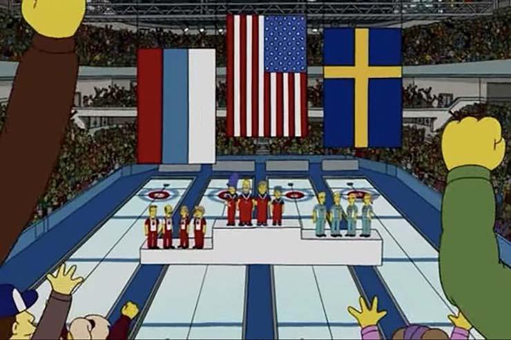 los simpson oro olimpico - Y lo han vuelto a hacer: Los Simpson predicen el oro olímpico de Estados Unidos en curling