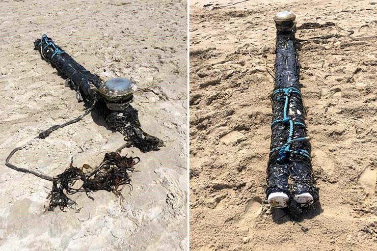 misterioso objeto playa de australia - Hallan un misterioso objeto en una playa de Australia y nadie sabe lo que es