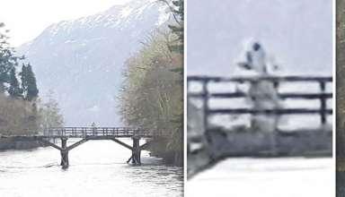 astronauta lago ness 384x220 - Fotografían un humanoide similar a un astronauta sobre un puente en lago Ness