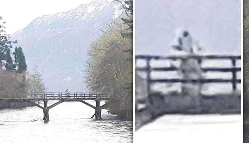 astronauta lago ness 850x491 - Fotografían un humanoide similar a un astronauta sobre un puente en lago Ness