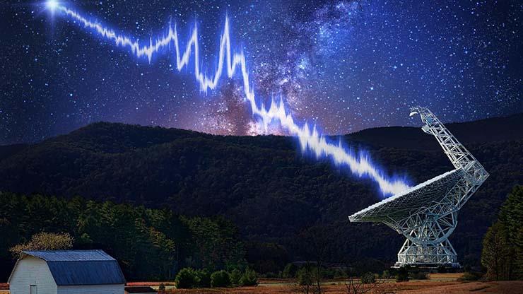 estallido de radio fuerte - Los astrónomos detectan el estallido de radio más fuerte jamás recibido y podría ser de origen extraterrestre
