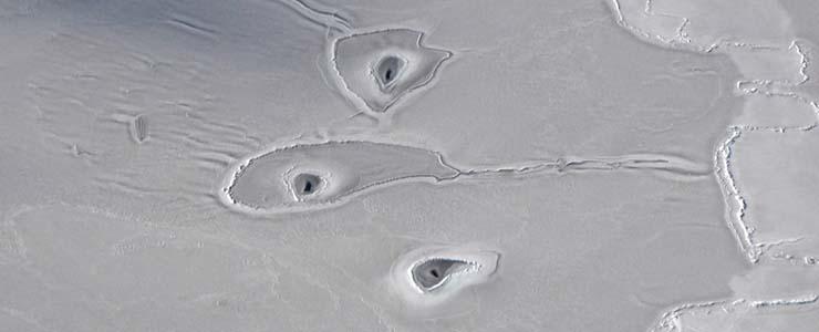 Misteriosos Agujeros en el Ártico