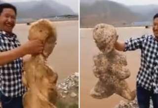 criatura humanoide china 320x220 - Hallan una extraña criatura humanoide en una playa de China
