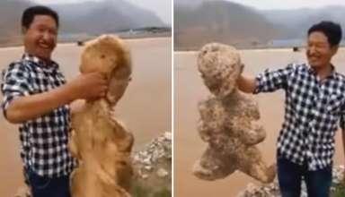 criatura humanoide china 384x220 - Hallan una extraña criatura humanoide en una playa de China