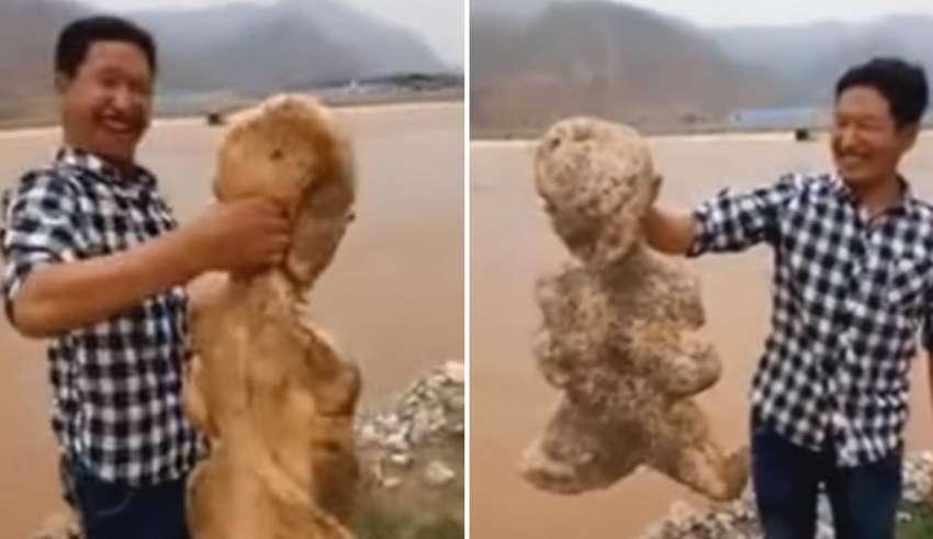 criatura humanoide china 850x491 - Hallan una extraña criatura humanoide en una playa de China
