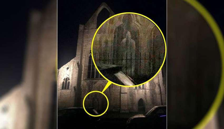fantasma de un monje 850x491 - Una exploradora urbana visita una abadía del siglo XII y se encuentra con el fantasma de un monje