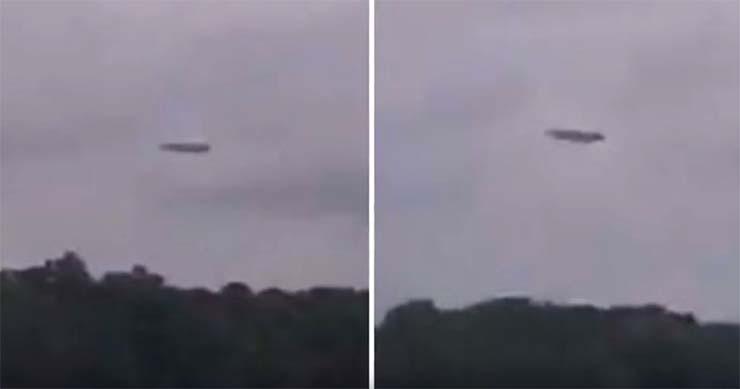 nave extraterrestre lago carolina norte - Impactantes imágenes muestran una enorme nave nodriza extraterrestre sobre un lago en Carolina del Norte