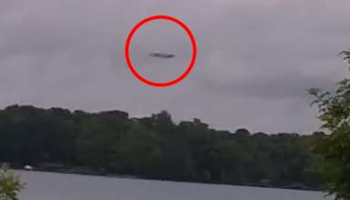 nave nodriza extraterrestre carolina norte 384x220 - Impactantes imágenes muestran una enorme nave nodriza extraterrestre sobre un lago en Carolina del Norte