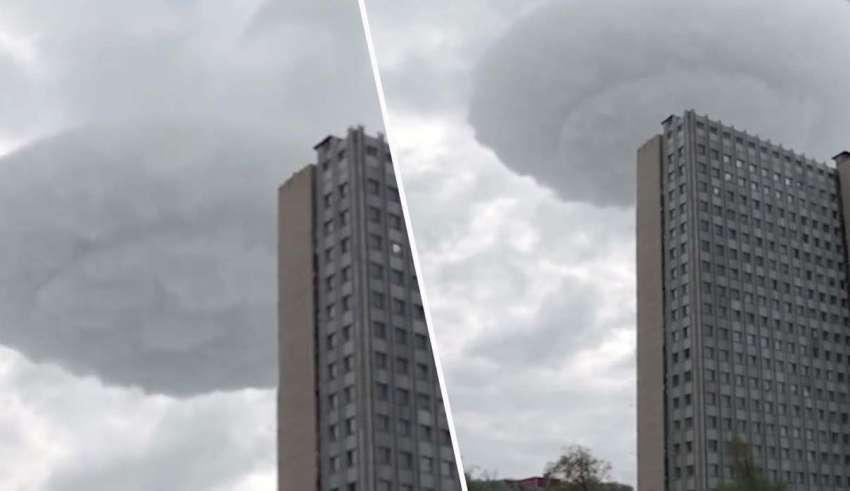 ovni moscu 850x491 - Graban un impactante OVNI en forma de nube sobre Moscú