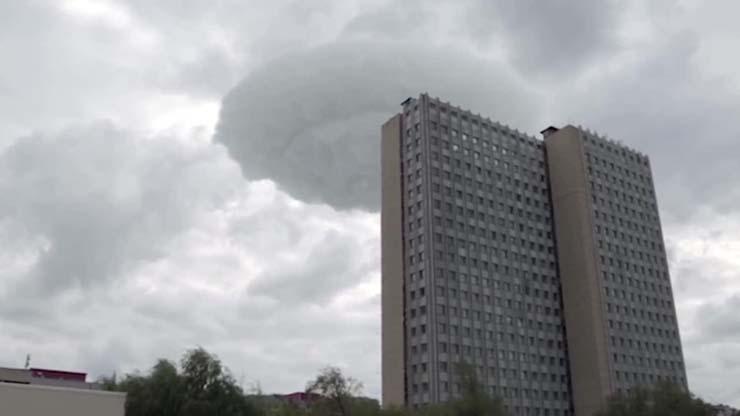 ovni sobre moscu - Graban un impactante OVNI en forma de nube sobre Moscú