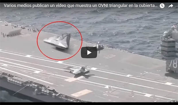 video ovni portaaviones - Los mejores avistamientos OVNI del 2018, ¿estamos a las puertas de la revelación extraterrestre?