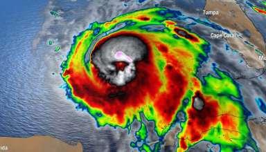 calavera huracan michael 384x220 - Aparece una aterradora calavera en una imagen satelital del huracán Michael