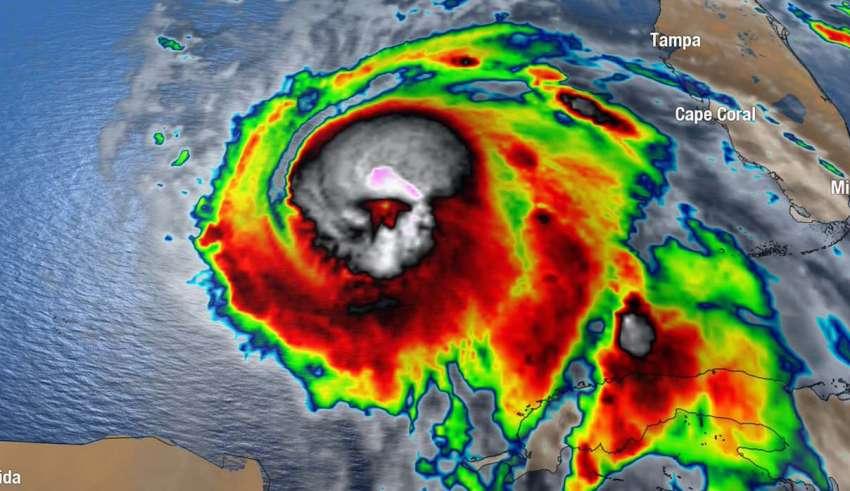 calavera huracan michael 850x491 - Aparece una aterradora calavera en una imagen satelital del huracán Michael