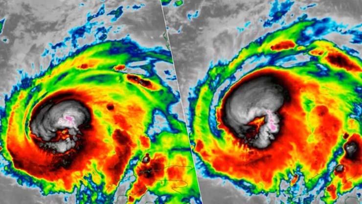 calavera michael - Aparece una aterradora calavera en una imagen satelital del huracán Michael