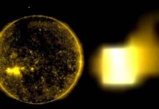 cubo sol 320x220 - Imágenes de la NASA muestran un cubo del tamaño de la Tierra entrando en el Sol