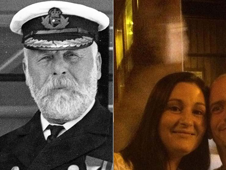 fantasma capitan del titanic - El fantasma del capitán del Titanic aparece detrás de una pareja en un famoso pub de Irlanda