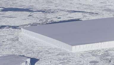 nasa iceberg perfectamente rectangular 384x220 - La NASA publica la imagen de un misterioso iceberg perfectamente rectangular