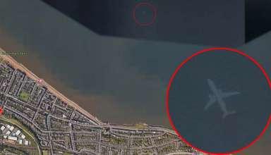 avion sumergido escocia 384x220 - Descubren en Google Earth un misterioso avión sumergido bajo el mar cerca de la costa de Escocia