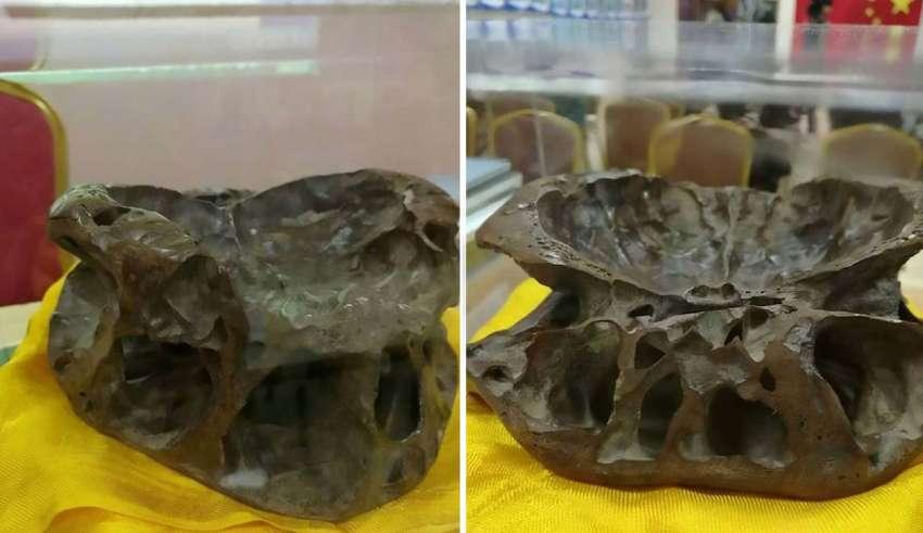 craneo extraterrestre 850x491 - Investigador exhibe el cráneo de un ser extraterrestre en China