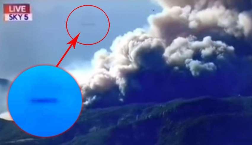 ovni california 850x491 - Un OVNI en forma de cigarro irrumpe en la retransmisión de noticias sobre los incendios forestales en California