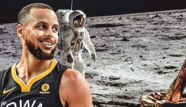 stephen curry luna 384x220 - La estrella de la NBA Stephen Curry no se cree que el hombre llegara a la Luna y la NASA le responde