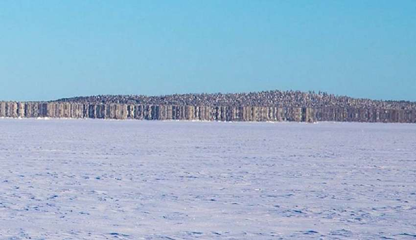 """isla fantasma finlandia 850x491 - Aparece una """"isla fantasma"""" en un lago congelado de Finlandia"""