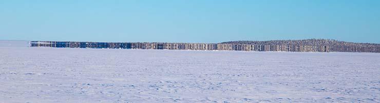 """isla fantasma lago congelado finlandia - Aparece una """"isla fantasma"""" en un lago congelado de Finlandia"""
