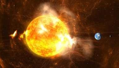 tormenta solar tierra 384x220 - Investigadores suecos advierten que una tormenta solar podría acabar con la vida en la Tierra este año
