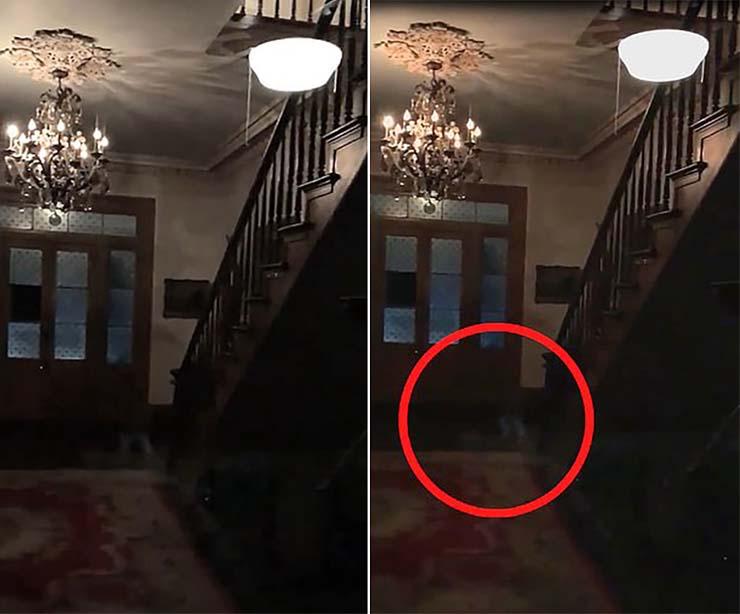 pies fantasmales ninos - Una pareja graba los pies fantasmales de tres niños en una plantación embrujada de los Estados Unidos